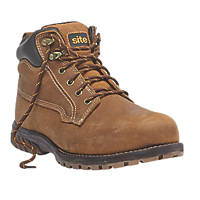 Site Clay Safety Boots Tan Size 7