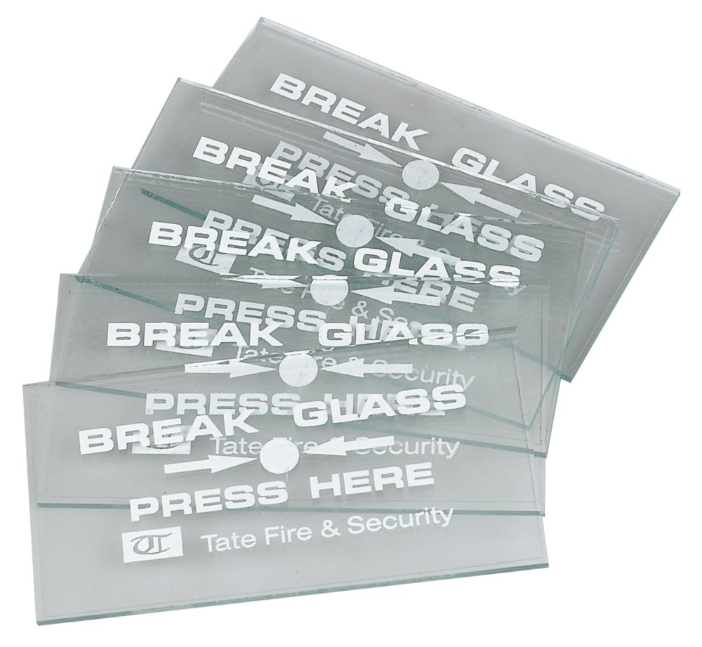 Fire Alarm Breakglass Spare Glass Pack of 5