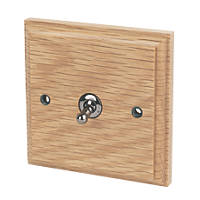 Varilight 10A SP 1-Gang 1/2-Way Toggle Switch Classic Oak