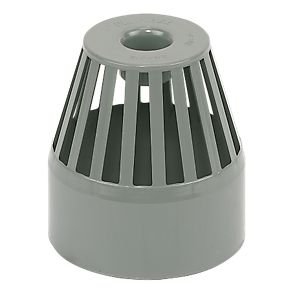 Floplast sp302g end vent terminal grey soil pipe for 80mm soil vent pipe