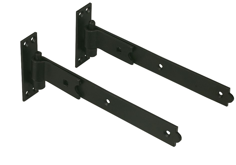 Straight Hook & Bands Pair Black 457mm
