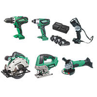 Hitachi KTL618SJ/JG 18V 2.5Ah Li-Ion Cordless 6-Piece Kit