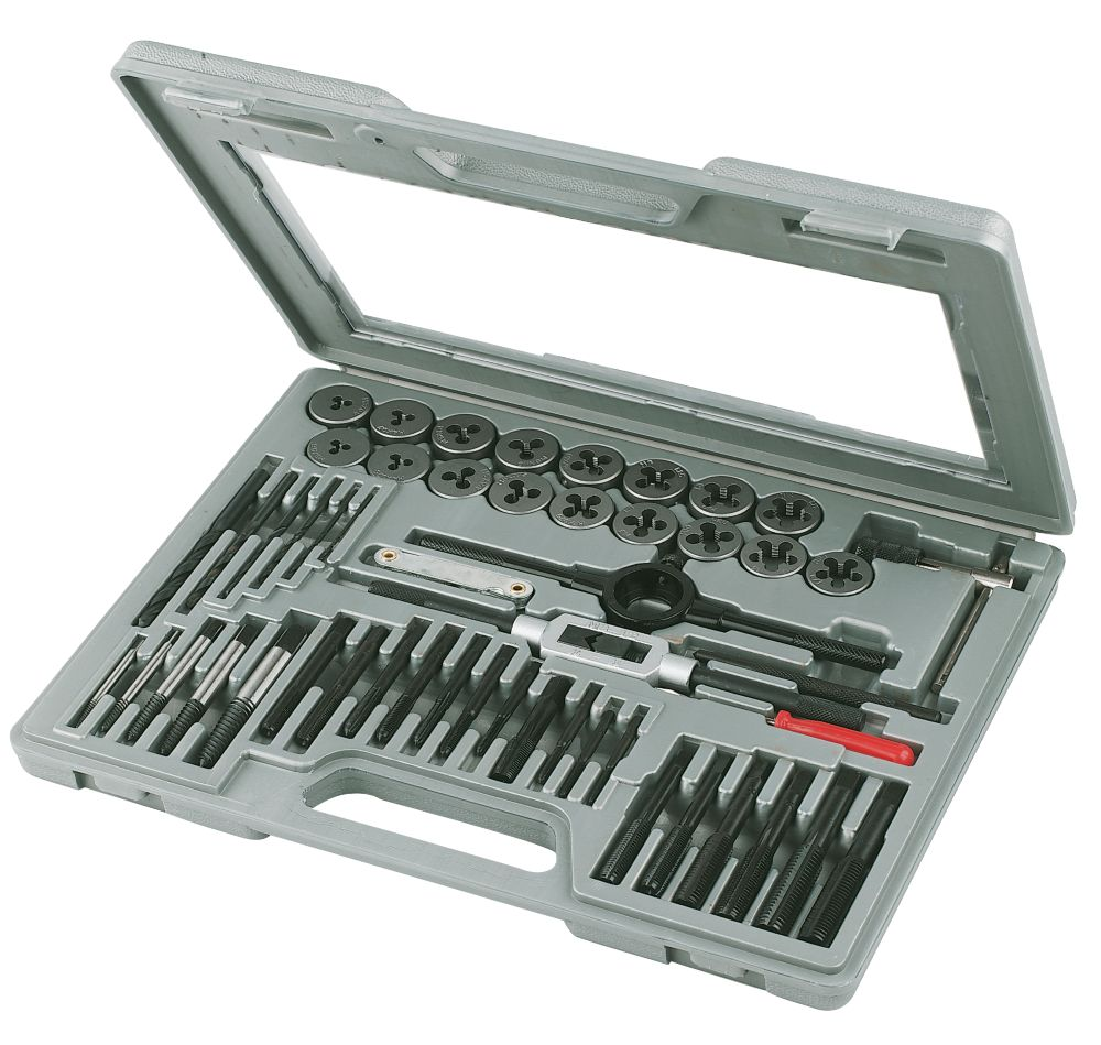 Carbon Steel Tap & Die Set 51 Piece Set