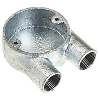 Deta Galvanised Metal Conduit 2-Way U Box 20mm