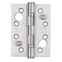 Smith & Locke Grade 13 Security Hinges Satin Stainless Steel 102 x 76mm 2 Pack