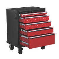 Hilka Pro-Craft 5-Drawer Garage Mobile Cabinet