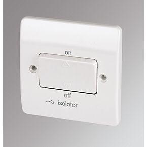 mk 10a 3 pole lockable fan isolator switch white switches mk 10a 3 pole lockable fan isolator switch white switches sockets screwfix com