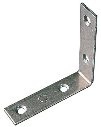 Corner Braces Zinc Plated 76.5 x 76.5 x 16.5mm Pack of 10