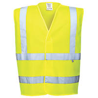 "Portwest Hi-Vis Flame Retardant Vest Yellow Large / X Large 48"" Chest"
