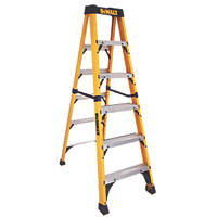 DeWalt DXL3410-06E Swingback Step Ladder Fibreglass 6-Tread 1.83m