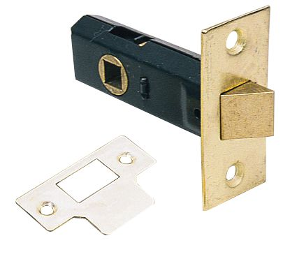 Tubular Latch Electro Brass 80mm