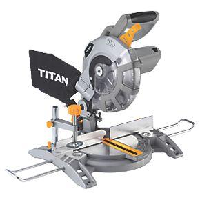 titan ttb710msw 210mm single bevel compound mitre saw 230. Black Bedroom Furniture Sets. Home Design Ideas