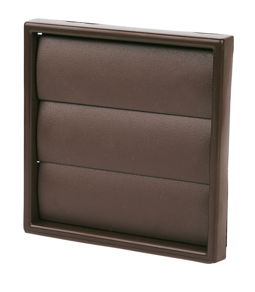Manrose Square Brown 100mm Flap Vent