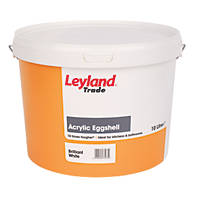 Leyland Trade Acrylic Eggshell Emulsion Paint Brilliant White 10Ltr