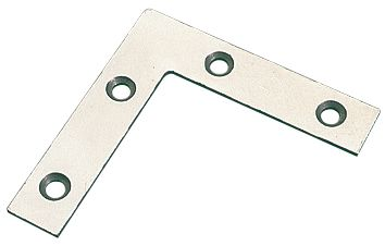 Angle Plates Zinc Plated 75.5 x 75.5 x 16.5mm Pack of 10