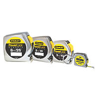 Stanley Powerlock Tape Measures 4 Piece Set