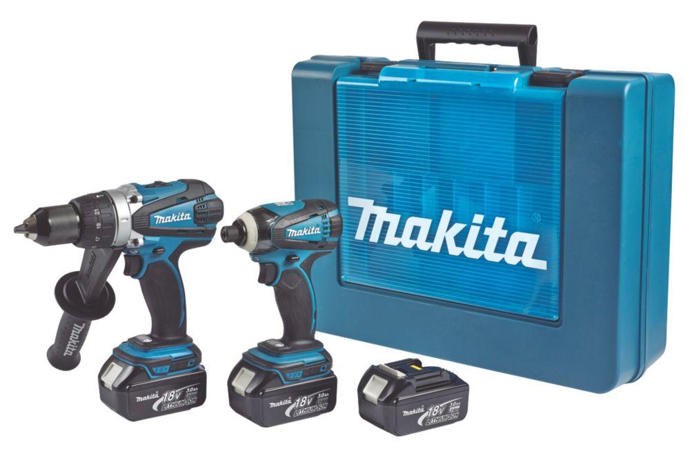 Makita DK18000X2 18V 3Ah Li-Ion Twin Pack Combi Drill & Impact Driver LXT