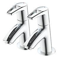 Bristan Smile Basin Pillar Bathroom Taps Pair