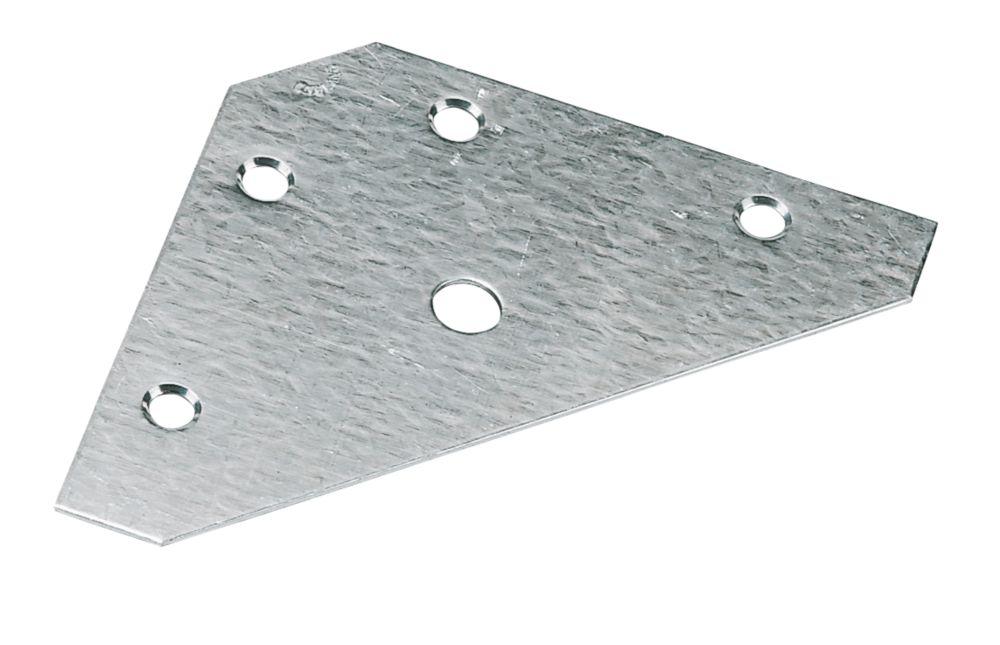 Corner Plates Zinc Plated 83 x 83 x 0.9mm Pack of 10