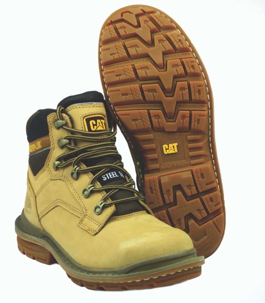Caterpillar Generator Honey Safety Boots Size 11