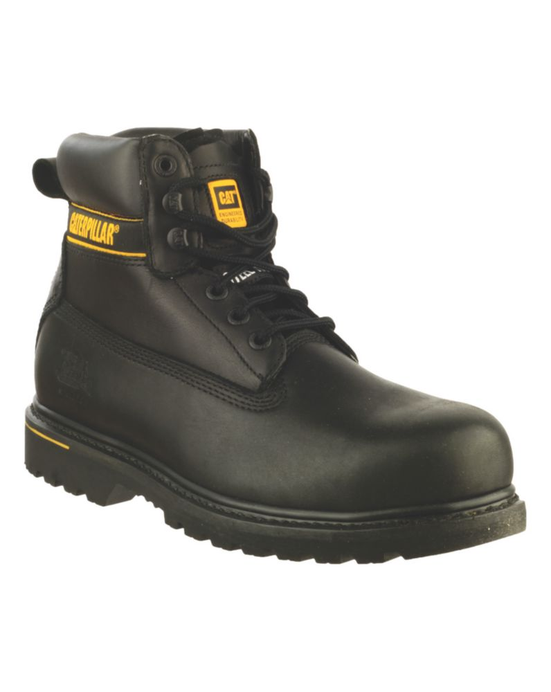 Caterpillar Holton S3 Black Safety Boots Size 9