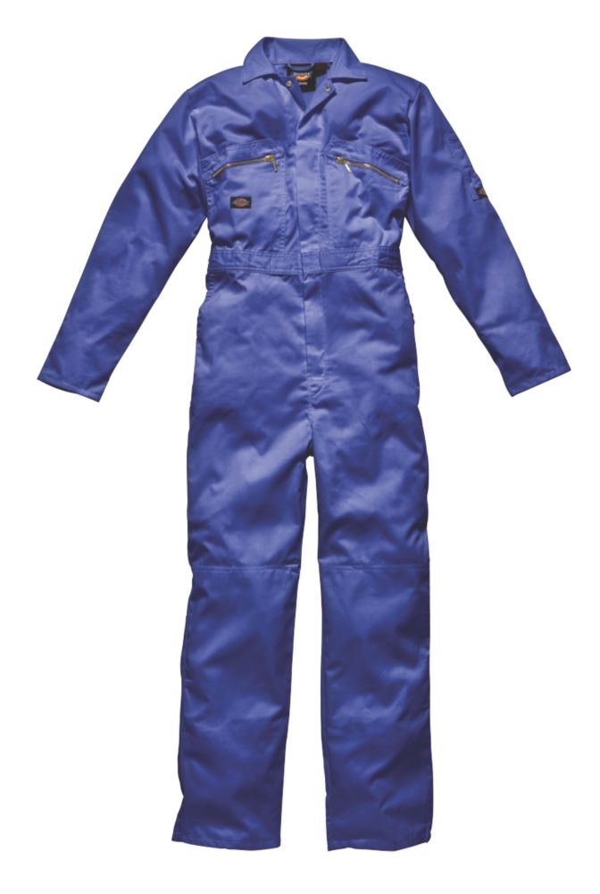 "Dickies Redhawk Zip Front Coverall Royal Blue XX Large 48"" Chest 30"" L"