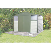 Trimetals Titan 108 Double Door Apex Shed Metal 10' 4 x 8' 4""