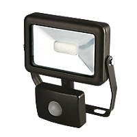 LAP Slimline LED Floodlight with PIR Black 10W