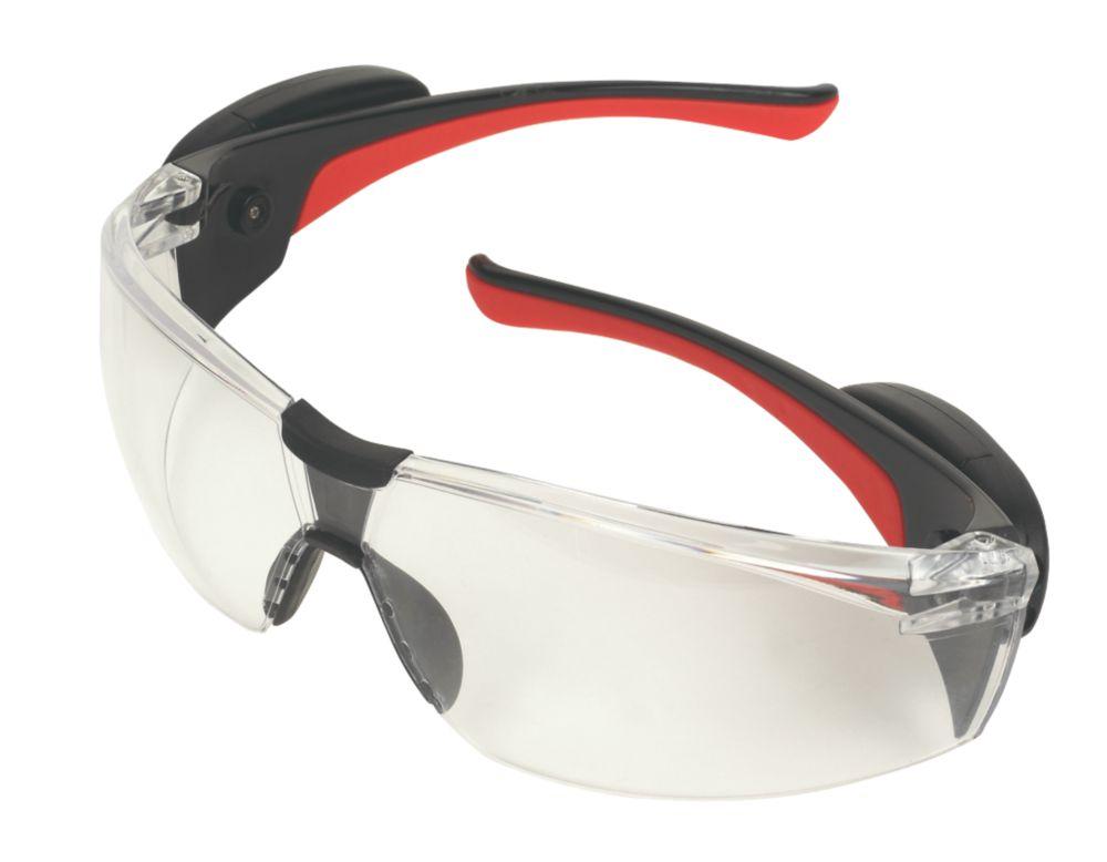 JSP Stealth Clear Lens Safety Specs with LEDs