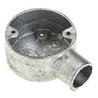 Deta Galvanised Metal Conduit Terminal Box 25mm