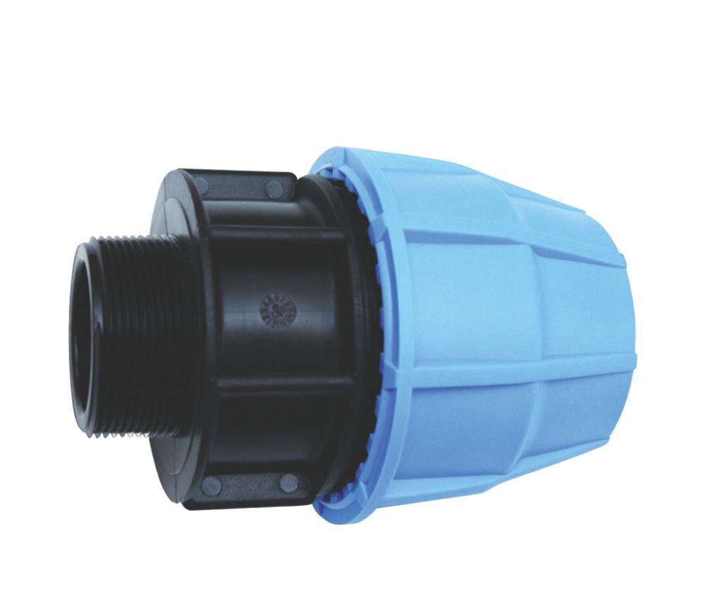 "FloPlast MDPE Male Adaptor 25mm x ¾"""