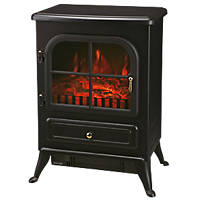 Black Switch Control Freestanding Electric Stove Fire