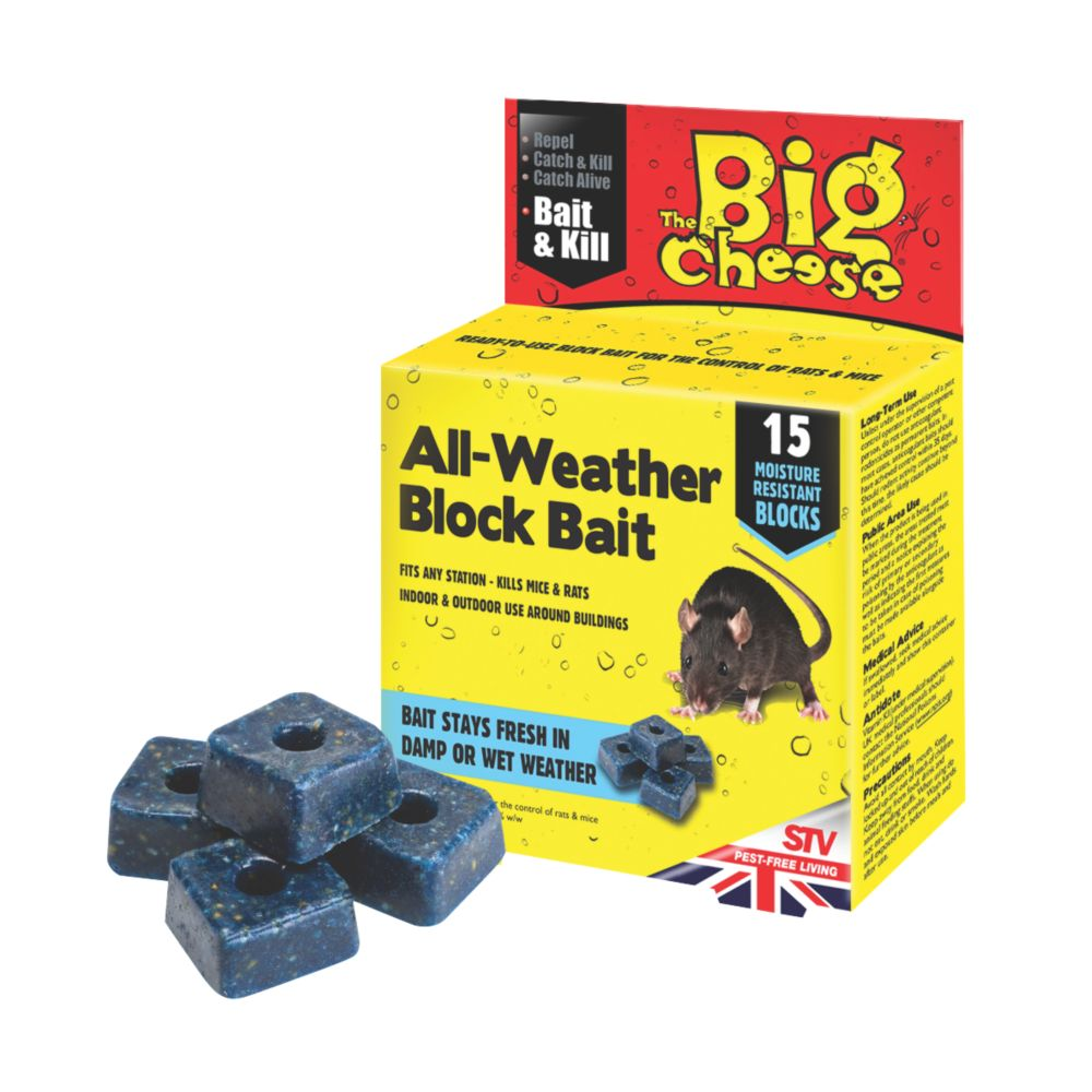 The Big Cheese Weatherproof Bait Blocks Pack of 15