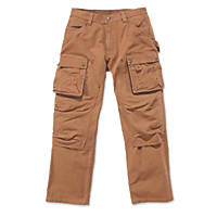 "Carhartt  Multi-Pocket Tech Trouser Brown 32"" W 32"" L"