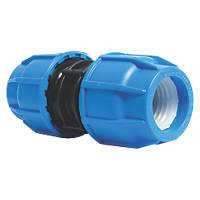 FloPlast 493012 MDPE Coupler 32mm x 32mm