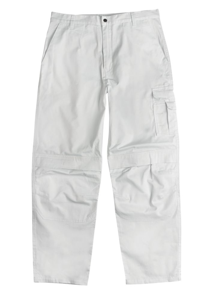 "Site Painters Trousers White 36"" W 32"" L"