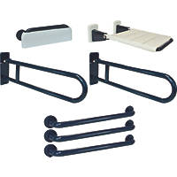 Franke Doc M Bathroom Disability Grab Rails & Rests 7 Pcs