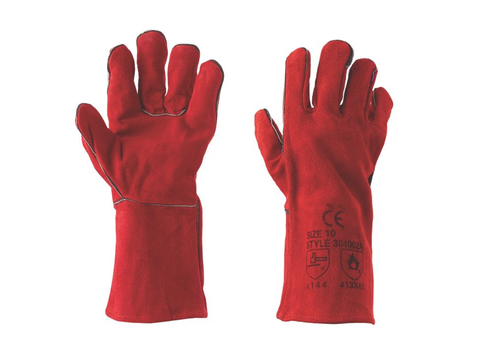 Keep Safe Specialist Handling Welders Gauntlets Red Large