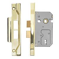 "Eurospec 2-Lever Rebated Sashlock Electro Brass 1¾"" / 44mm"