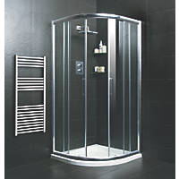Moretti  Quadrant Shower Enclosure  Silver 900 x 900 x 1850mm