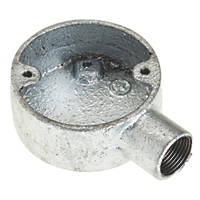 Deta Galvanised Metal Conduit Terminal Box 20mm