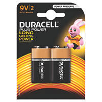 Duracell 9V Batteries 2 Pack