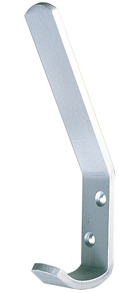 Hat & Coat Hook Satin Anodised 110mm Aluminium Pack of 5