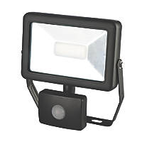 LAP Slimline LED Floodlight with PIR Black 20W