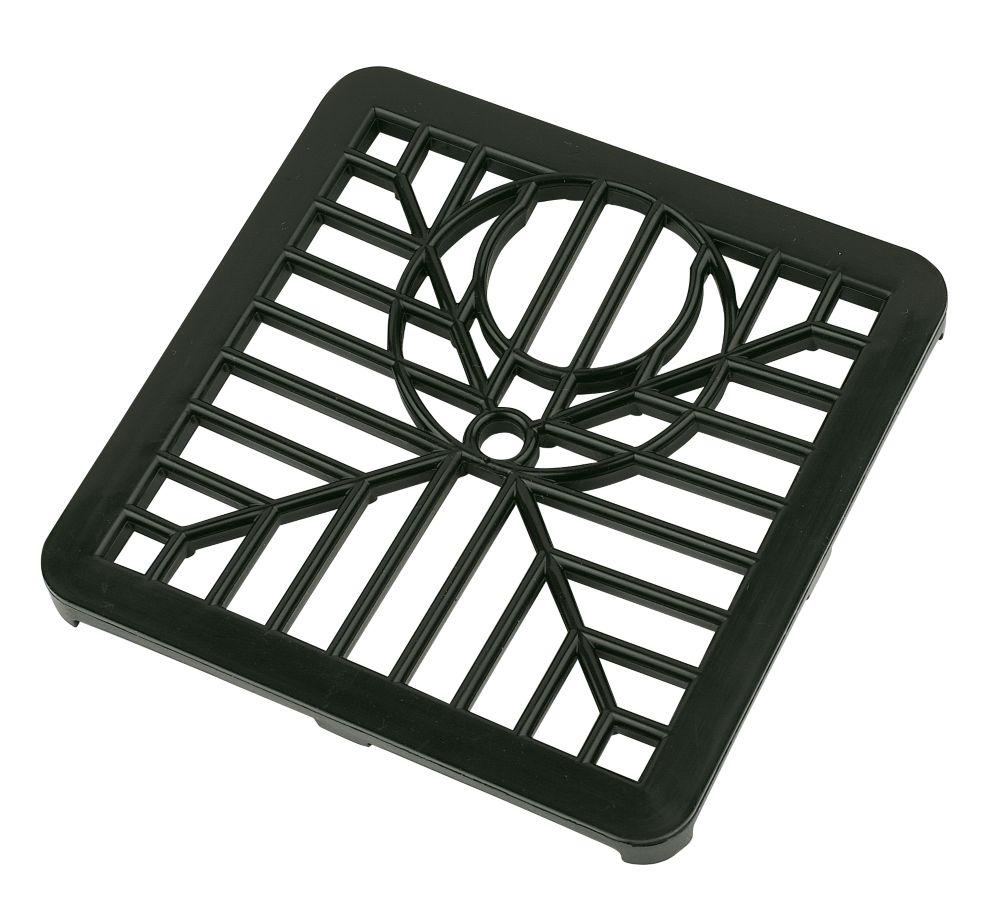 Gulley Grid Black 150 x 150mm