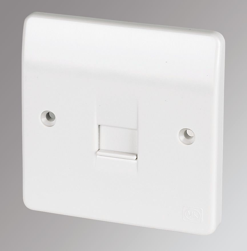 MK 1-Gang Master Telephone Socket White
