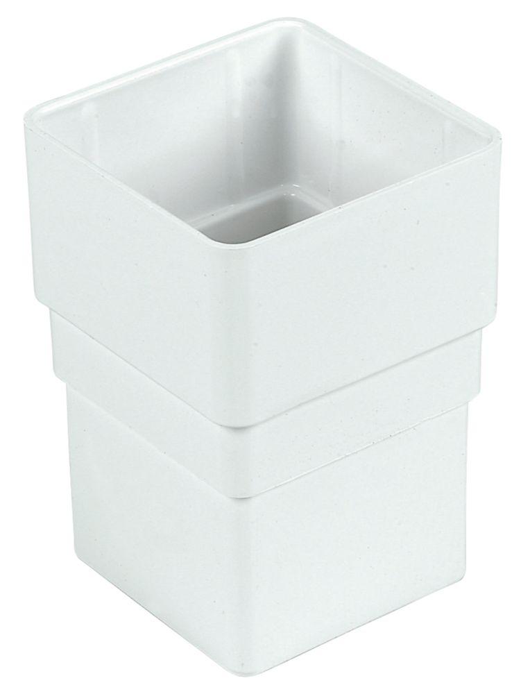 Square Line Drainage Socket 65mm White