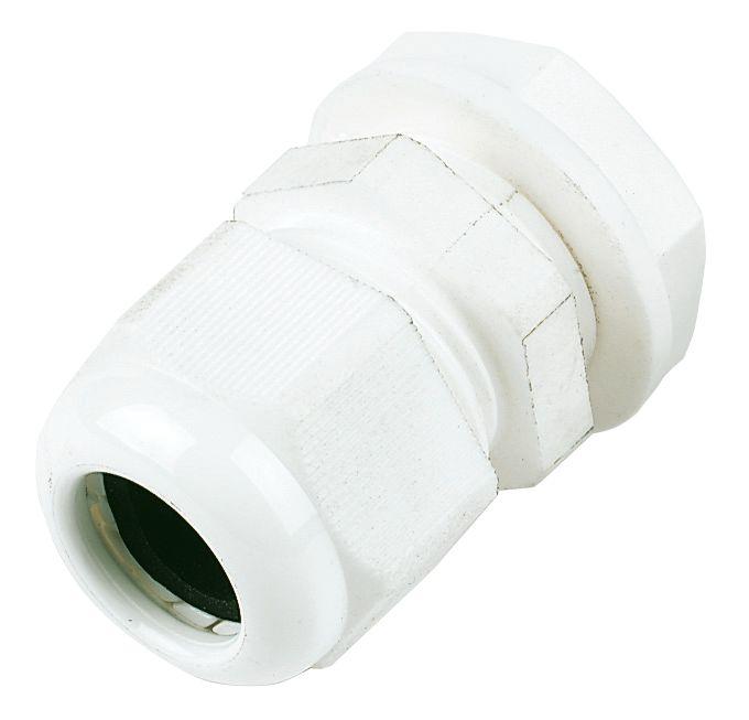 IP68 Nylon Gland White 20mm Pack of 10