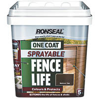 Ronseal Sprayable One-Coat Fence Life Medium Oak 5Ltr