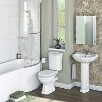 Chester Traditional P-Shape Left Hand Bathroom Suite with Acrylic Bath